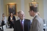 Professor Moran and Lars Strannegård, President of the Stockholm School of Economics