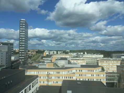 The view of Kista from my desk in Permobil.JPG